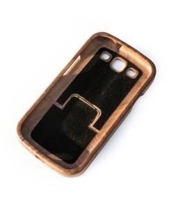 Houten hoesje, Samsung Galaxy S3 - donker notenhout