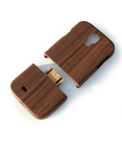 Houten hoesje, Samsung Galaxy S4 - donker notenhout