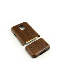 Houten hoesje, Samsung Galaxy S5 MINI - donker notenhout