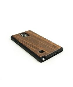 Echt houten hardcase hoesje, Samsung Galaxy NOTE 4 - donker notenhout