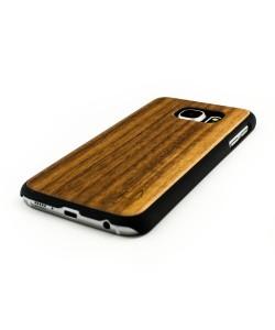Echt houten hardcase hoesje Samsung Galaxy S6 - donker notenhout