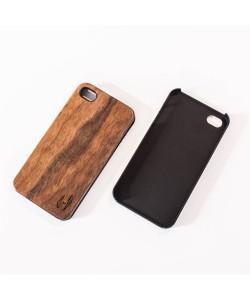 Echt houten hardcase hoesje iPhone 4 / 4S - donker notenhout