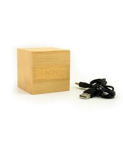 Houten klokje (bamboe)  met temperatuur aanduiding en alarm functie