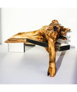 "Kunst object 5 ""Hout ontmoet Staal"" (wood design) Hoentjen"