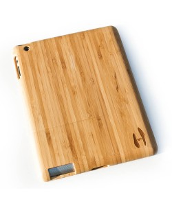 Houten iPad 2/3/4 hoes - bamboe hout