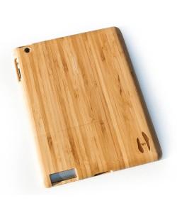 Houten iPad 2/3/4 hoes - bamboe hout