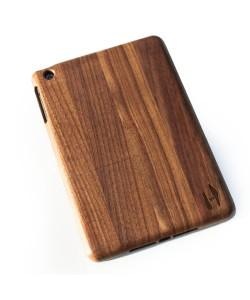 Houten iPad mini hoes - donker notenhout