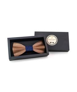Hoentjen, Luxe houten vlinder strik - Amerikaans noten