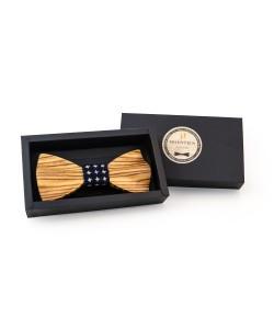 Hoentjen, Luxe houten vlinder strik - Zebrano