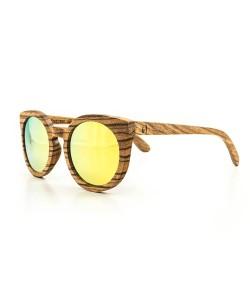Hoentjen, houten zonnebril – St Augustine - goud reflecterend