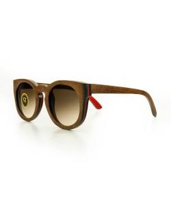 Hoentjen, houten zonnebril- Aroa (Carl Zeiss glazen)