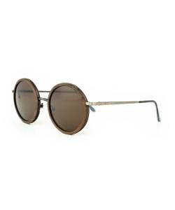 Hoentjen, houten zonnebril - Champagne Zilver