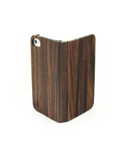 Houten design flip case, iPhone 4 / 4S – Padouk