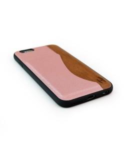 Houten TPU case, iPhone 6 / 6s - kersen hout en pasjeshouder
