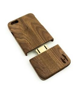 Houten hoesje, iPhone 6 Plus / 6s Plus - donker notenhout