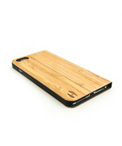 Houten design flip case, iPhone 6 Plus / 6s Plus – Bamboe