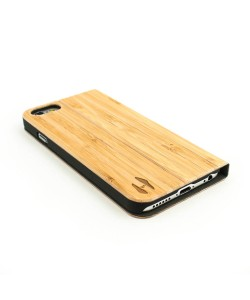 Houten design flip case, iPhone 6 / 6S– Bamboe