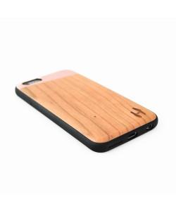Houten TPU case, iPhone 6 / 6s - Kersenhout &  rosé metal