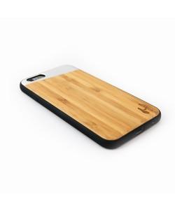 TPU case, iPhone 6 / 6s - Bamboo &  silver metal