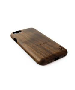 Houten hoesje, iPhone 7 - donker notenhout (ronde afloop)
