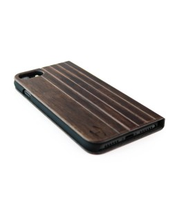 Houten design flip case, iPhone 8 plus – Padouk