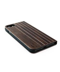 Houten design flip case, iPhone 8 plus – Padouk
