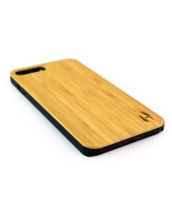 Echt houten hardcase hoesje iPhone 8 Plus - bamboe