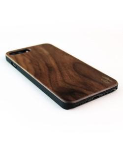 Echt houten hardcase hoesje iPhone 8 Plus - notenhout