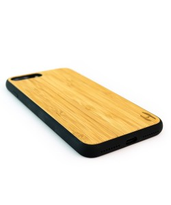 Houten TPU case, iPhone 8 Plus - Bamboe