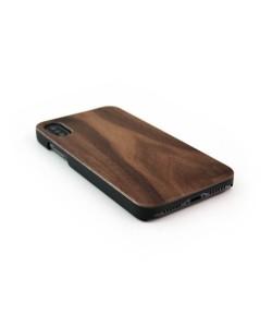 Echt houten hardcase hoesje iPhone X / XS - Notenhout