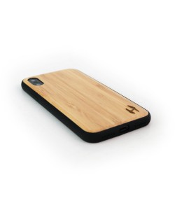 Houten TPU case, iPhone X / XS - Bamboe