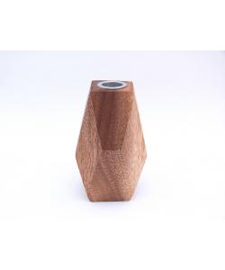 houten kandelaar rechthoekig 13cm