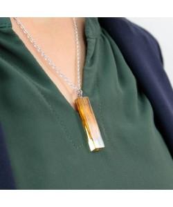 Epoxy ketting, rechthoek met hout