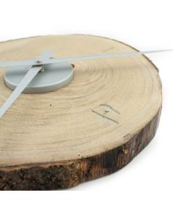 Hoentjen - Handgemaakte houten wandklok - zilver