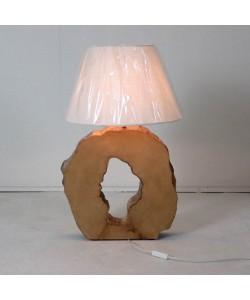 Houten voetlamp - Essenhout, Hoentjen Creatie