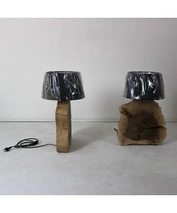 Houten voetlamp - Notenhout, Hoentjen Creatie