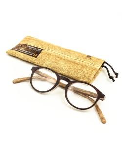 Leesbril hout-look bruin, Hoentjen Creatie