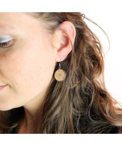 Houten oorbellen, stammetje klein