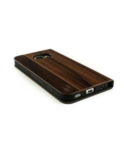 Houten design flip case, Samsung Galaxy S6  – Padouk