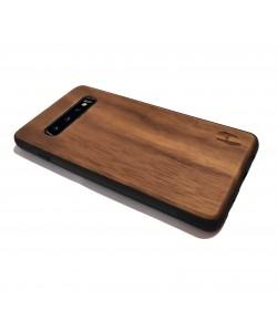 Houten TPU case, Samsung Galaxy S10 - Notenhout