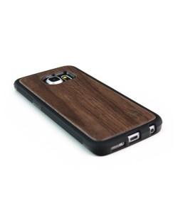 Houten TPU case, Samsung Galaxy S6 Edge - notenhout