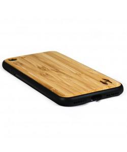 Houten TPU case, iPhone SE 2020 - Bamboe