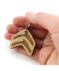 Houten sleutelhanger - Citroen