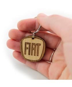 Houten sleutelhanger - Fiat