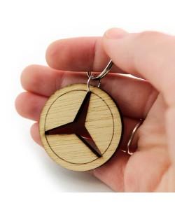 Houten sleutelhanger - Mercedes