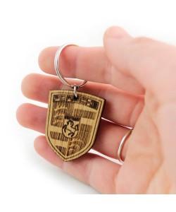 Houten sleutelhanger - Porsche