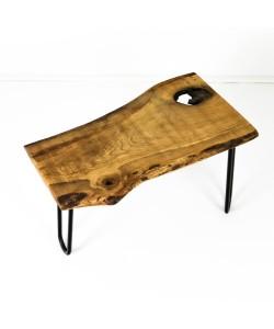 Eiken houten bijzettafel / bankje / krukje