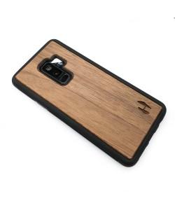 Houten TPU case, Samsung Galaxy S9+ - Notenhout