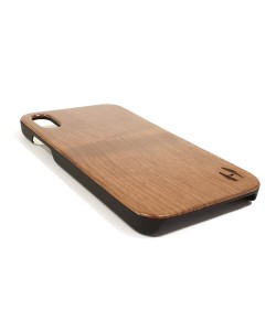 Echt houten hardcase hoesje iPhone Xr - Notenhout