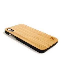 Echt houten hardcase hoesje iPhone Xr - Bamboe